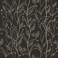 Glasfliese Black Leaves C